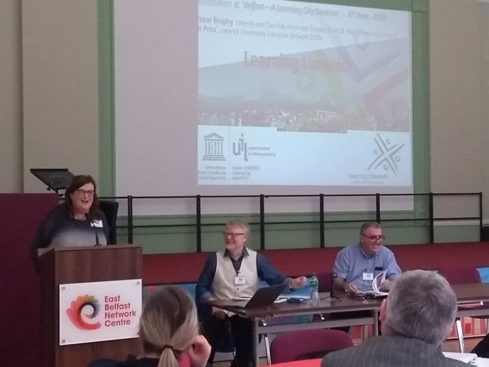 Eimear Brophy presenting at Belfast Seminar
